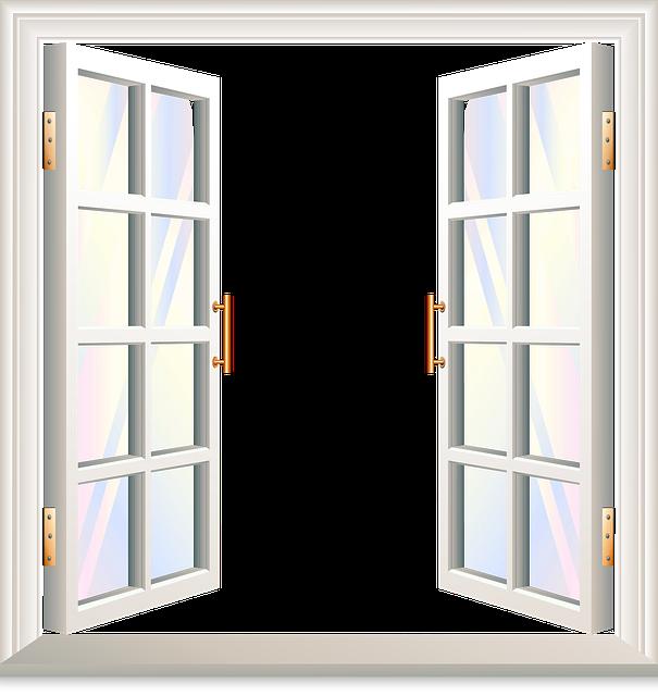 Open Window, Window With Shutters, Copper, Open