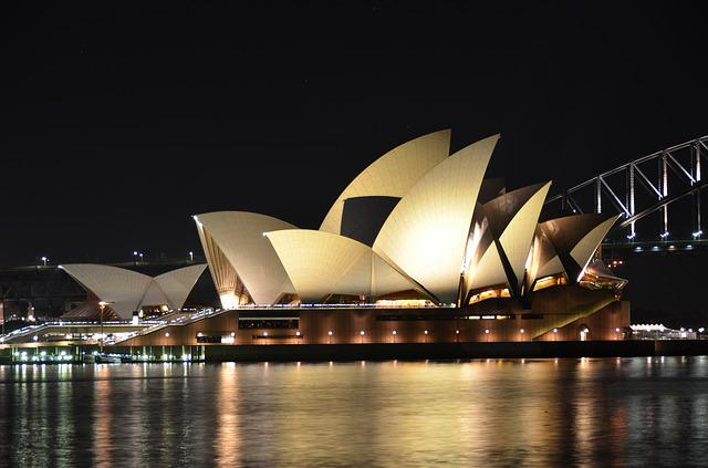 Land Mark, Opera House, Sydney, Night, Australia