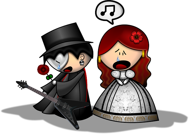 Man, Woman, Opera, Phantom, Chant, Electric Guitar