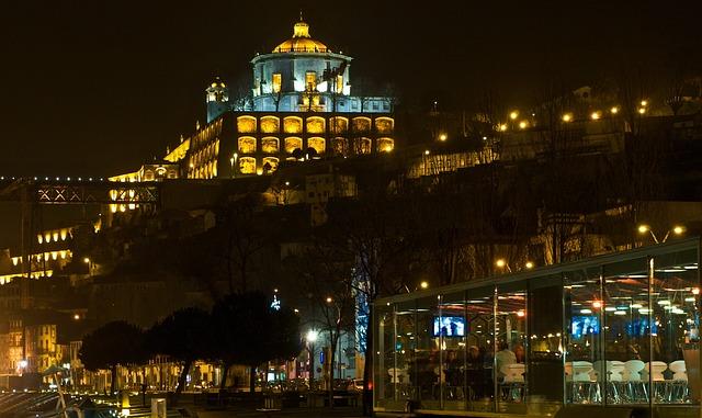 Oporto, Porto, Portugal, Cityscape, City, Night