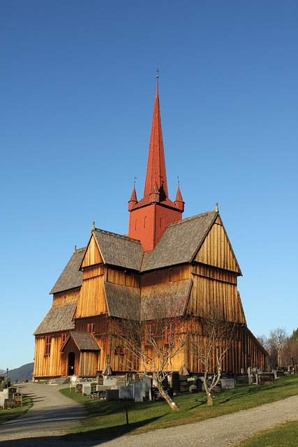 Oppland, Norway, Church, Cemetery, Faith, Religion