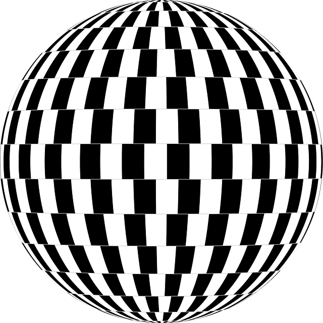 Checkerboard, Optical Illusion, Orb, Sphere, 3d