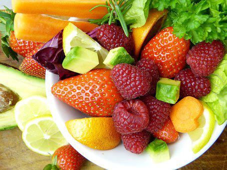 Fruit, Avocado, Lemon, Orange, Strawberries