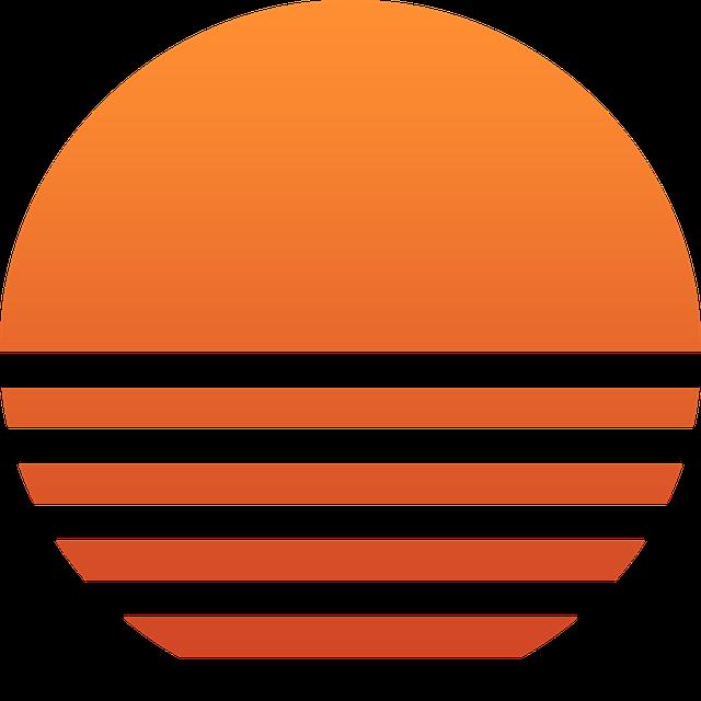 Sun, Sunset, Red, Orange, Sunrise, Summer, Beach Sunset