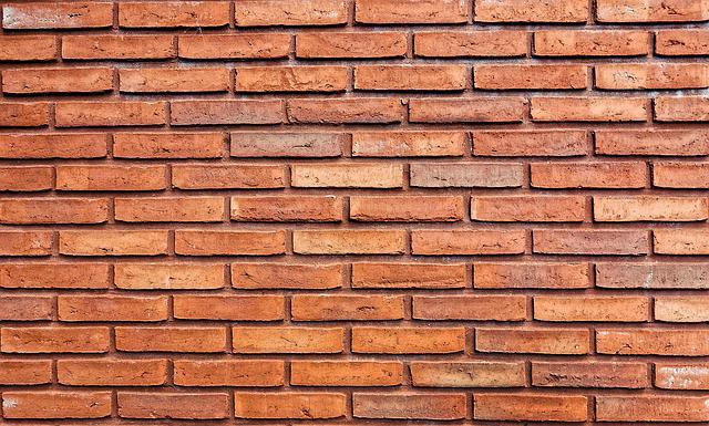 Brick Wall, Orange Brick Wall, Brick, Orange Brick