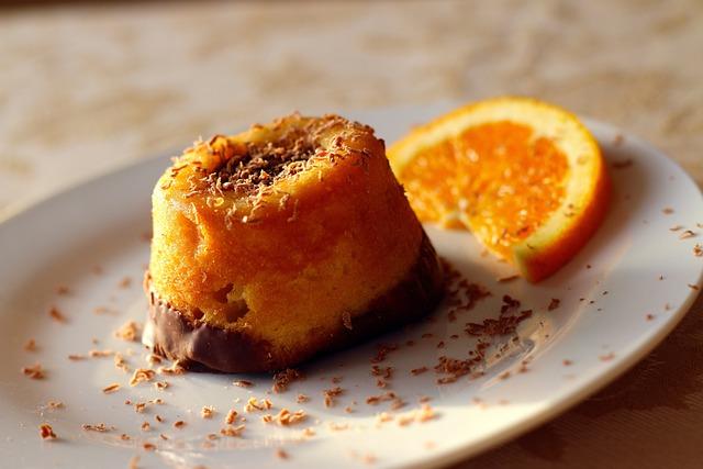 Orange Cake, Dessert, Pastry, Food, Baked, Cake, Sweets