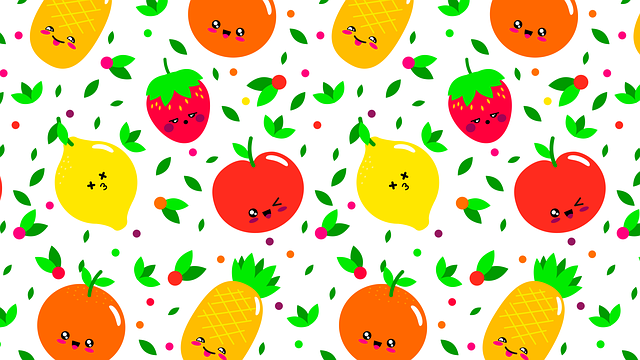 Pattern, Fruit, Fruits, Orange, Green, Food