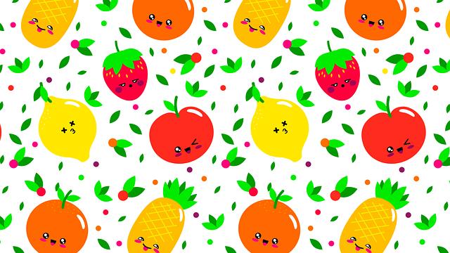 Pattern, Fruit, Fruits, Orange, Green, Food