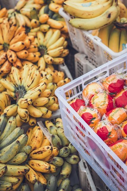 Fruits, Banana, Orange, Market
