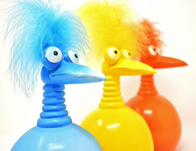 Jokers, Orange, Blue, Yellow, Funny, Weird Bird, Cute