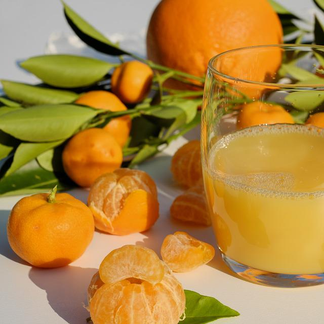 Orange Juice, Juice, Vitamins, Orange, Mandarin