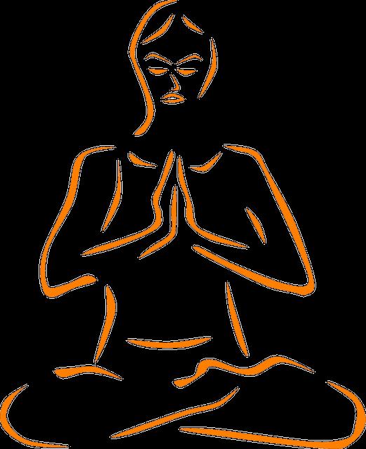 Meditation, Meditate, Crossed Legs, Yoga, Orange