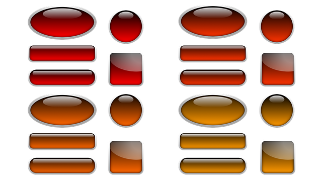 Button, Icon, Oblong, Square, About, Oval, Red, Orange