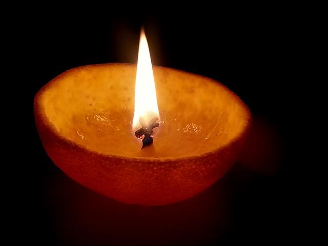 Oil Lamps, Orange Oil Lamps, Orange Peel Oil Lamps