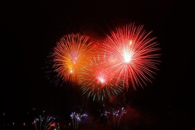 Rocket, Red, Orange, Fireworks, New Year's Eve