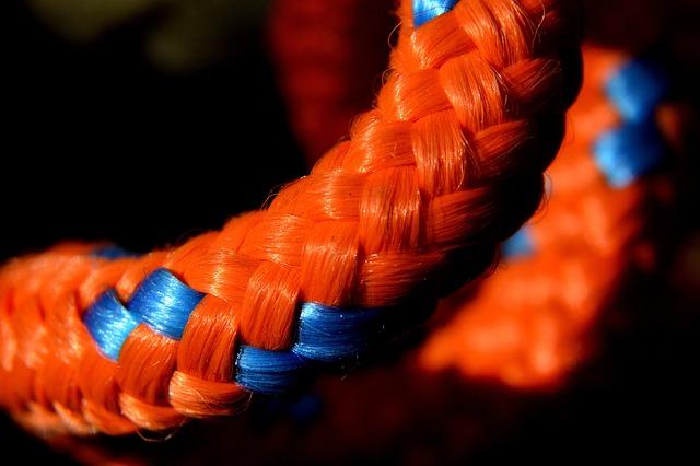 Rope, String, Orange, Macro