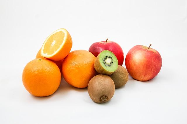 Apples, Kiwi, Oranges, Fruit, Vitamins, Healthy Eating