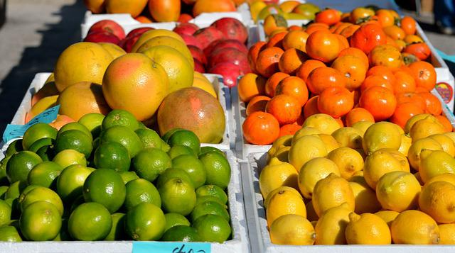 Fruit For Sale, Oranges, Limes, Grape Fruit, Citrus