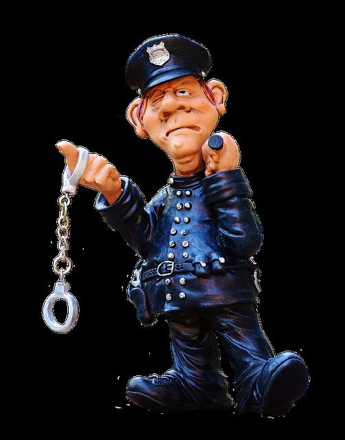 Figure, Police, Funny, Uniform, Cop, Ordnungshüter