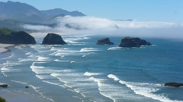 Ocean, Coast, Waves, Oregon, United States, Beach
