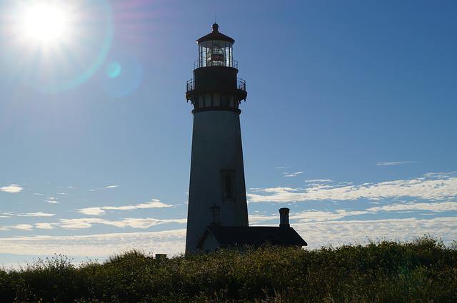 Yaquina, Lighthouse, Oregon, Coast, Newport, Tower