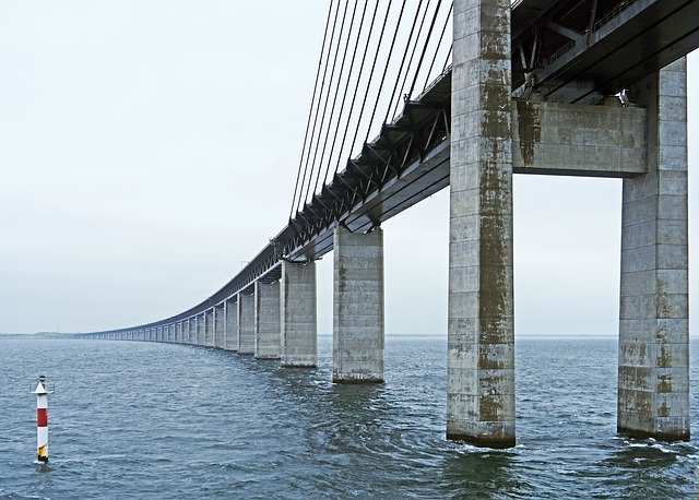 Oresund Bridge, Eastern Ramp, Sweden, Denmark