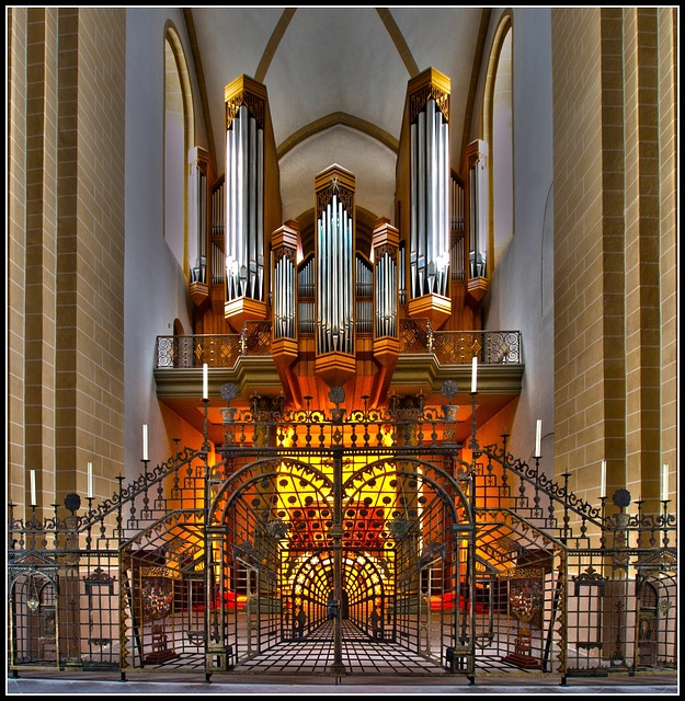 Organ, Dom, Paderborn, Grid, Church Organ