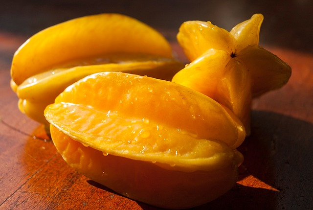 Star Fruit, Fruit, Yellow, Food, Organic, Healthy