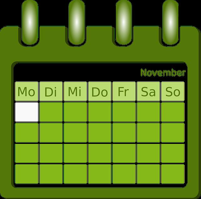 Calendar, Organization, Planning