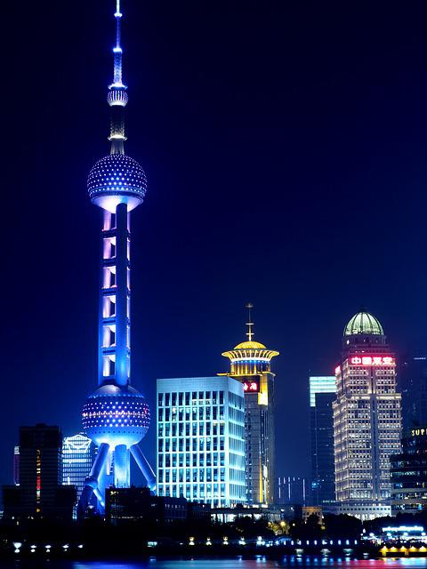 Shanghai, Oriental Pearl Tv Tower, Night View
