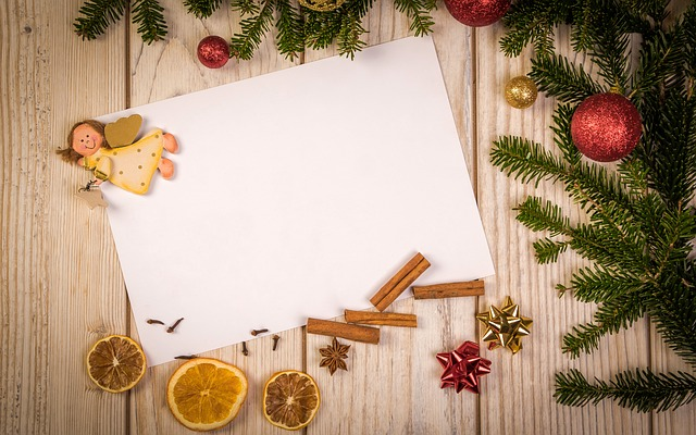 Christmas, Letter, Ornament, Text, Background, Postcard