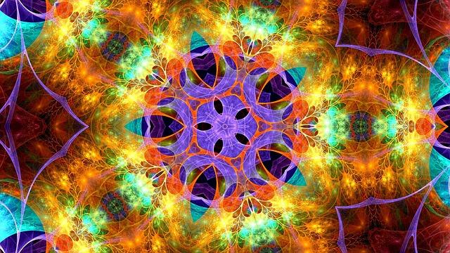 Kaleidoscope, Pattern, Ornament, Border