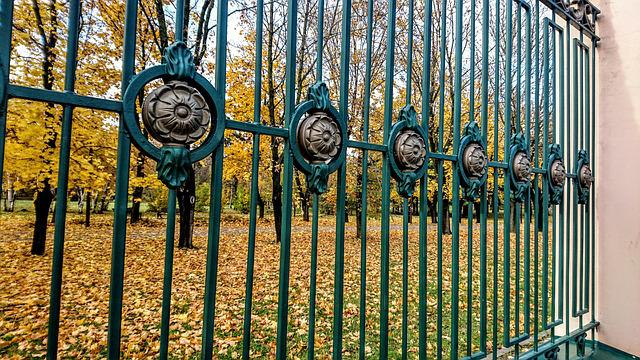 Fence, Iron, Wood, Template, Ornament, Nature, Steel