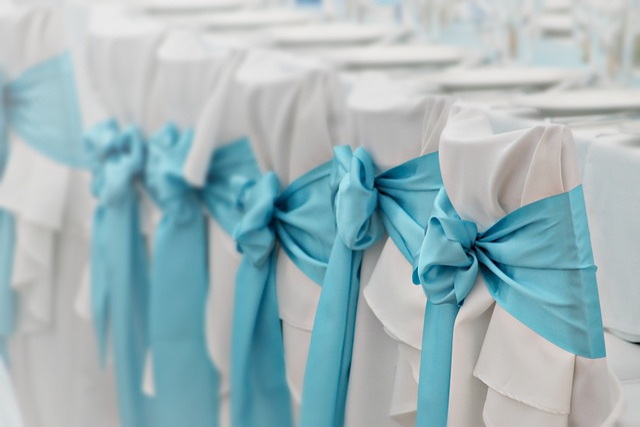 Wedding, Ornament, Decoration, Chair, Chair Skirt, Blue