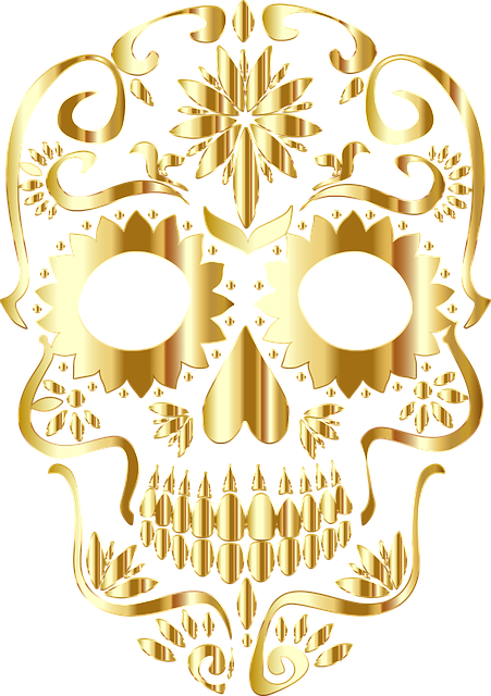Sugar Skull, Bones, Calavera, Ornate, Decorative