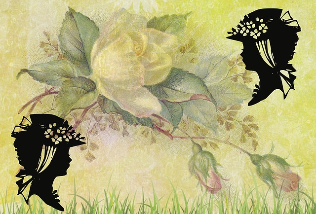 Background, Vintage, Roses, Garden, Ornato, Ornamental