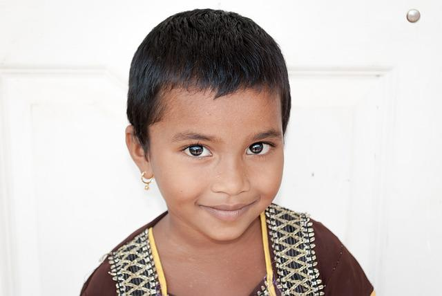 Child, Portrait, Indian, Smiling, Orphan, Asian, Poor