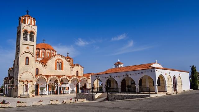 Cyprus, Paralimni, Ayia Varvara, Church, Orthodox