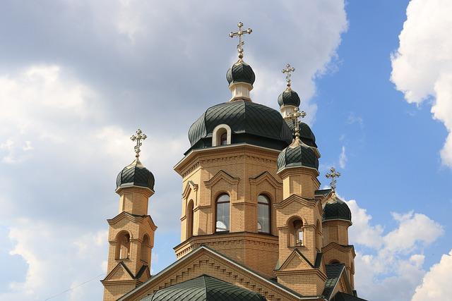 Ukraine, Church, Spire, Cross, Religion, Orthodox, Tile