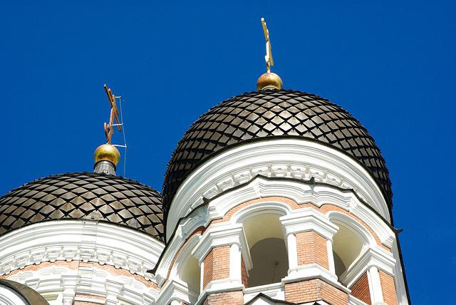 Estonia, Tallinn, Orthodox Church, Cupolas