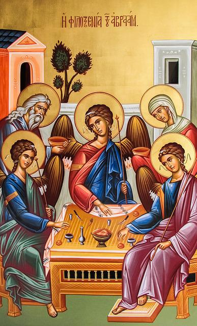 Abraham's Philoxenia, Painting, Icon, Orthodox