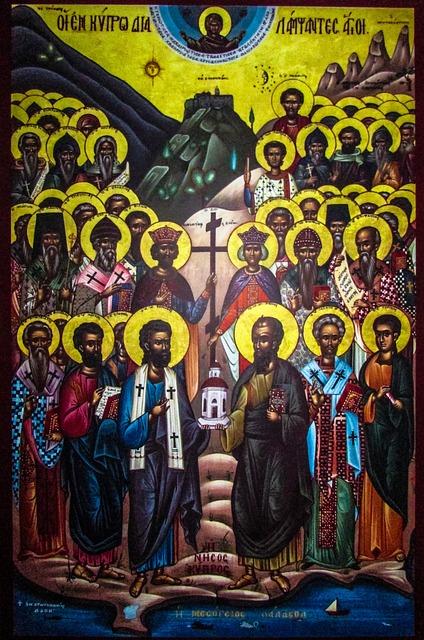Icon, Orthodox, Byzantine, Saints Of Cyprus, Unique