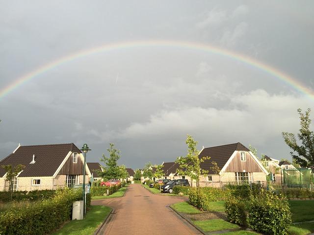 Rainbow, Nature, Air, Bungalow, Orvelte Marke, Drenthe