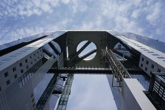 Building, Sky Tower, Osaka, Architecture, Landmark