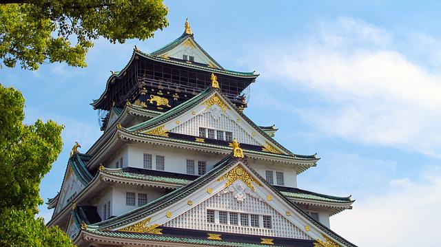 Osaka Castle, Japan, Five, Osaka, Landmark, Asian Style
