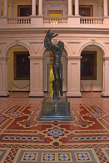 Statue, Osgoode Hall Courthouse, Toronto Ontario Canada