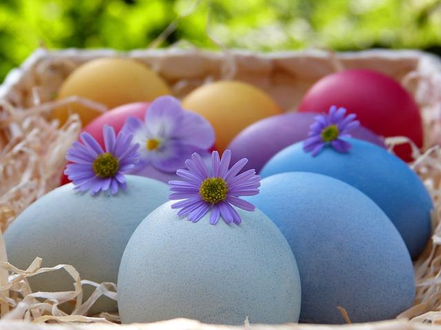 Easter Eggs, Basket, Colorful, Osterkorb, Easter