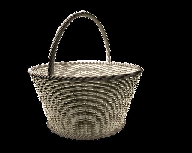 Basket, Wicker Basket, Wicker, Osterkorb, Basket Ware