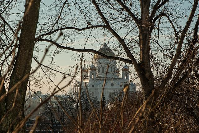 Moscow, Cathedral, Christ-savior, Cupolas, Othodoxe