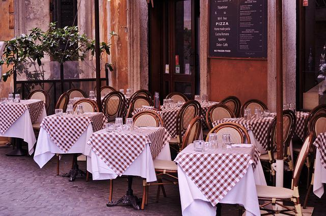 Bistro, Cafe, Restaurant, Tables, Outdoor Dining